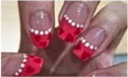 Ongles rouge - manicure